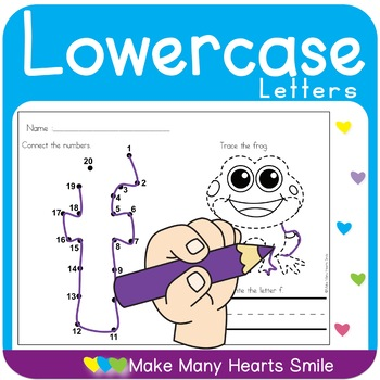Dot to Dot Lowercase Letters   MMHS41