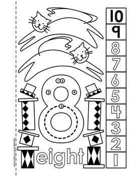 Dot-to-Dot Number Book 1-10 Activity Coloring Pages