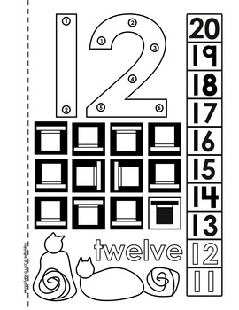 Dot To Dot Number Book 1 20 Activity Coloring Pages By Mary Straw