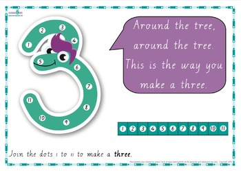 Dot-to-Dot Number Rhyme Charts (Cursive Print)