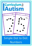 Dot to Dot Numbers Autism Fine Motor Skills