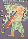 """! FREE """"Dot-to-Dot Polygon Creature"""" Math and Art Project"""