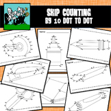 Dot to Dot School Supplies / Back to School - SKIP COUNTING by 10's