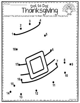Dot to Dot - Thanksgiving