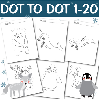 Dot to Dot Worksheets Arctic Animal Dot to Dot 1-10 Coloring