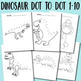 Dot to Dot Worksheets Dinosaur Dot to Dot 1-10