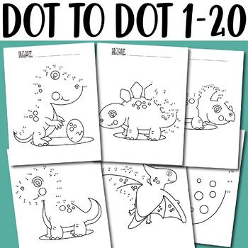 Alphabet Dot to Dot: Dinosaur | Dinosaurs preschool, Dinosaur ... | 350x350