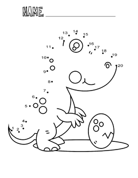 Dot to Dot Worksheets Dinosaur Dot to Dot 1-20 Coloring ...