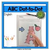 Dot to Dot worksheet English ABCs