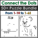 Dot to Dots / Connect the Dots. 50+ Puzzles! 1-10, 1-20, 1-40, etc