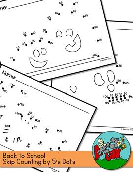 Dot to Dots Skip Counting 5 - 100 / 125 - HALLOWEEN HOLIDAY