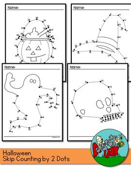 Dot to Dots Skip Counting by 2's 2 - 50 HALLOWEEN HOLIDAY