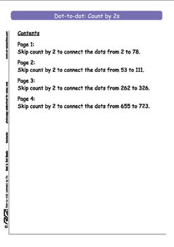 Dot-to-dot - Count by 2s