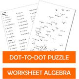 Dot to dot Puzzle Worksheets Algebra