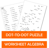 Dot to dot Puzzle Worksheets Algebra