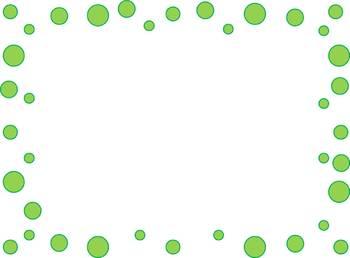 Dots Border - Clipart Colours