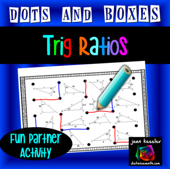 Trigonometric Ratios Dots & Boxes Game for Sine Cosine Tangent Solving for Sides