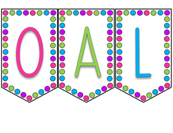 Dots & Brights Classroom Decor - Banners