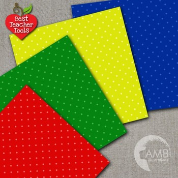 Dots Digital Papers, Multi-Colored Seamless Dots Pattern, AMB-1298