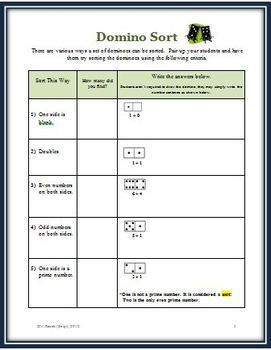 Dots Fun for Everyone - FREE Math Activities Plus a Game that Uses Dominoes