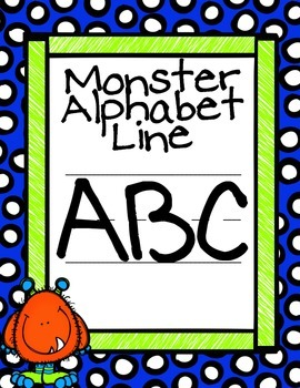 Dots Monster Alphabet