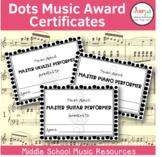 Dots Music Award Certificates