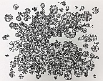 Dots OP ART Color Sheet