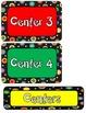Colored Polka Dots On Black Center Label