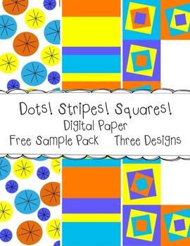 Dots Stripes Squares Digital Paper