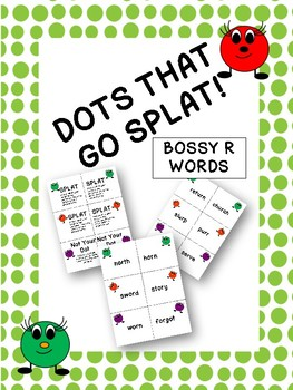 Dots That Go Splat Bossy R Card Game Bundle