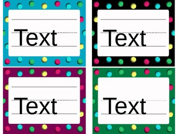 Dots-Themed Name Plates and More! (Editable)