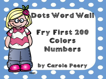 Word Wall Dots Fry First 200