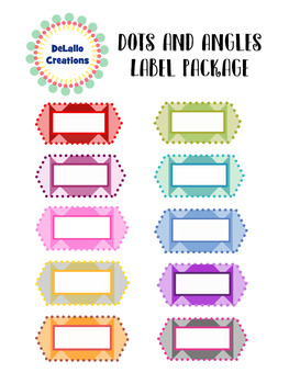Dots and Angles Label Package