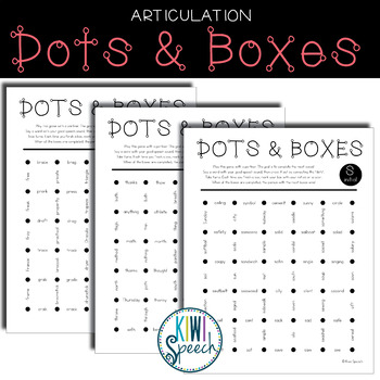 NO-PREP Articulation Dots and Boxes for Speech Therapy