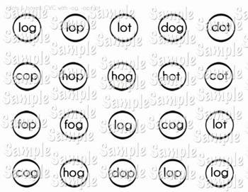 Dots and Boxes: CVC -og, -op, -ot Words