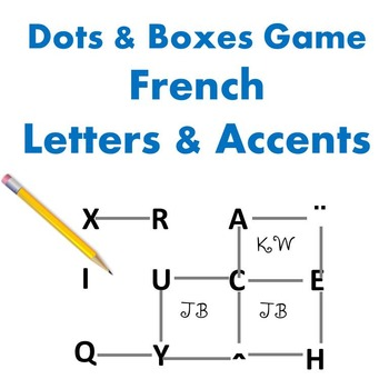 Dots and Boxes Game - French Letters and Accents