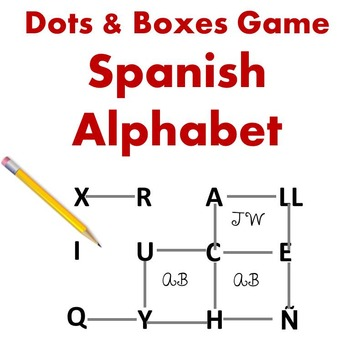 Dots and Boxes Game - Spanish Alphabet