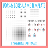 Dots and Boxes Game Template Clip Art for Commercial Use (Pig in a Pen)