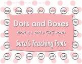 Dots and Boxes: Short /e/ /i/ /u/ CVC words