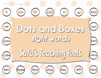 Dots and Boxes: Sight Words