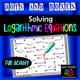 Logarithmic Equations Dots and Boxes Fun Game
