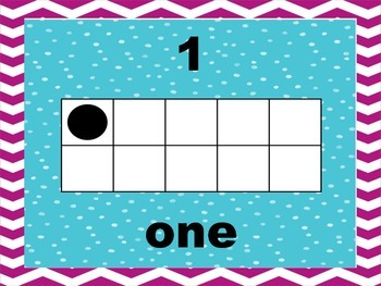 Dots and Chevron Ten Frame Number Posters to 10
