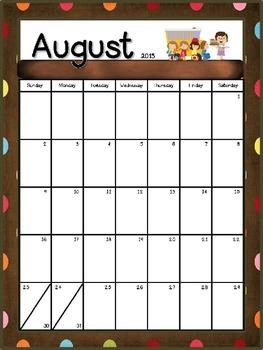 Chocolate Dots Editable Teacher Binder/Calendar Set