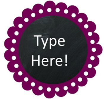 Dots and Dahlias Editable Labels/Printables