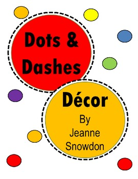 Dots and Dashes Alphabet, Numbers, Days and Months