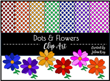 Dots and Flowers Clipart
