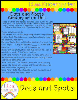 Dots and Spots Kindergarten Unit