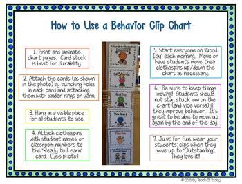 Dots and Tots Behavior Clip Chart