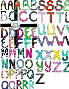 Dots and Whimsy Letters Bundle