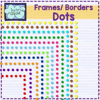 Dots frames - borders Clip art